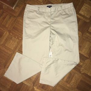 Lands End Women's Pants Khaki Size 16 Flat Front